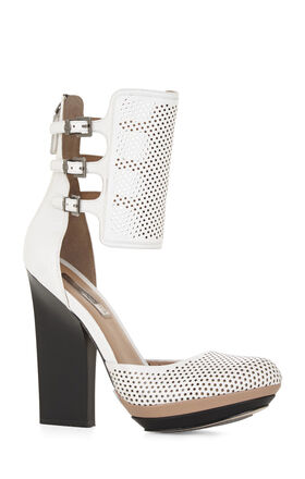 Hailey Perforated Ankle-Strap Pump