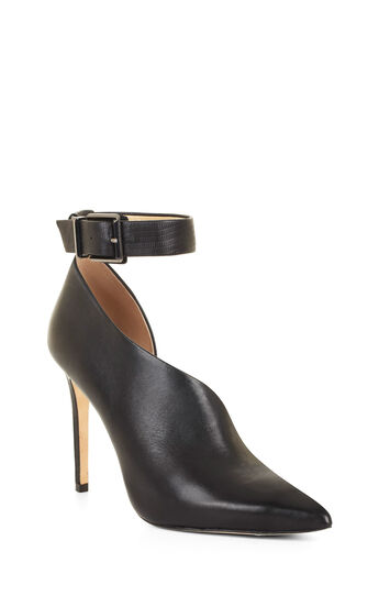 Aced High-Heel Ankle-Strap Bootie