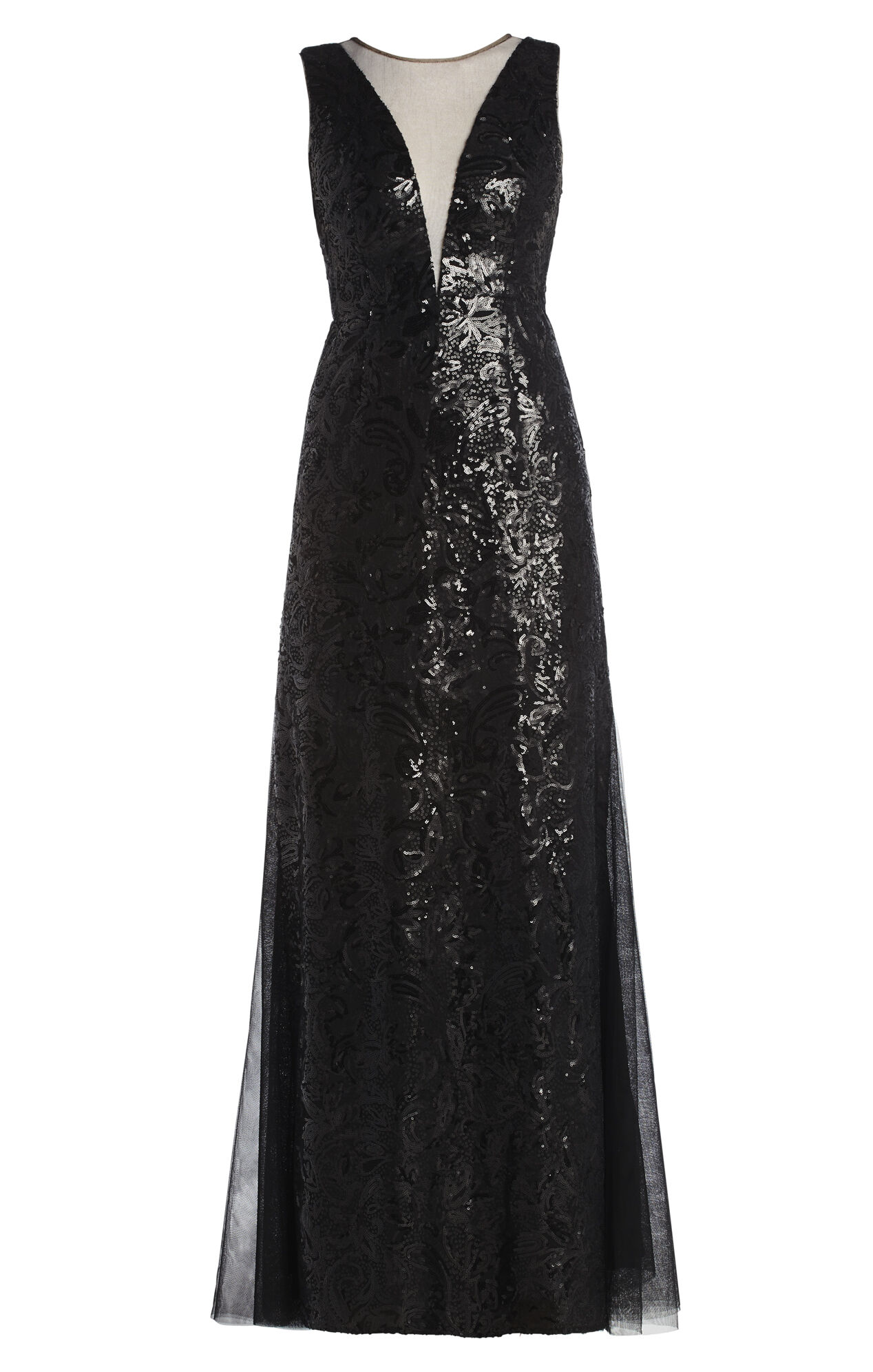 Evette Sleeveless Deep V-Neck Dress