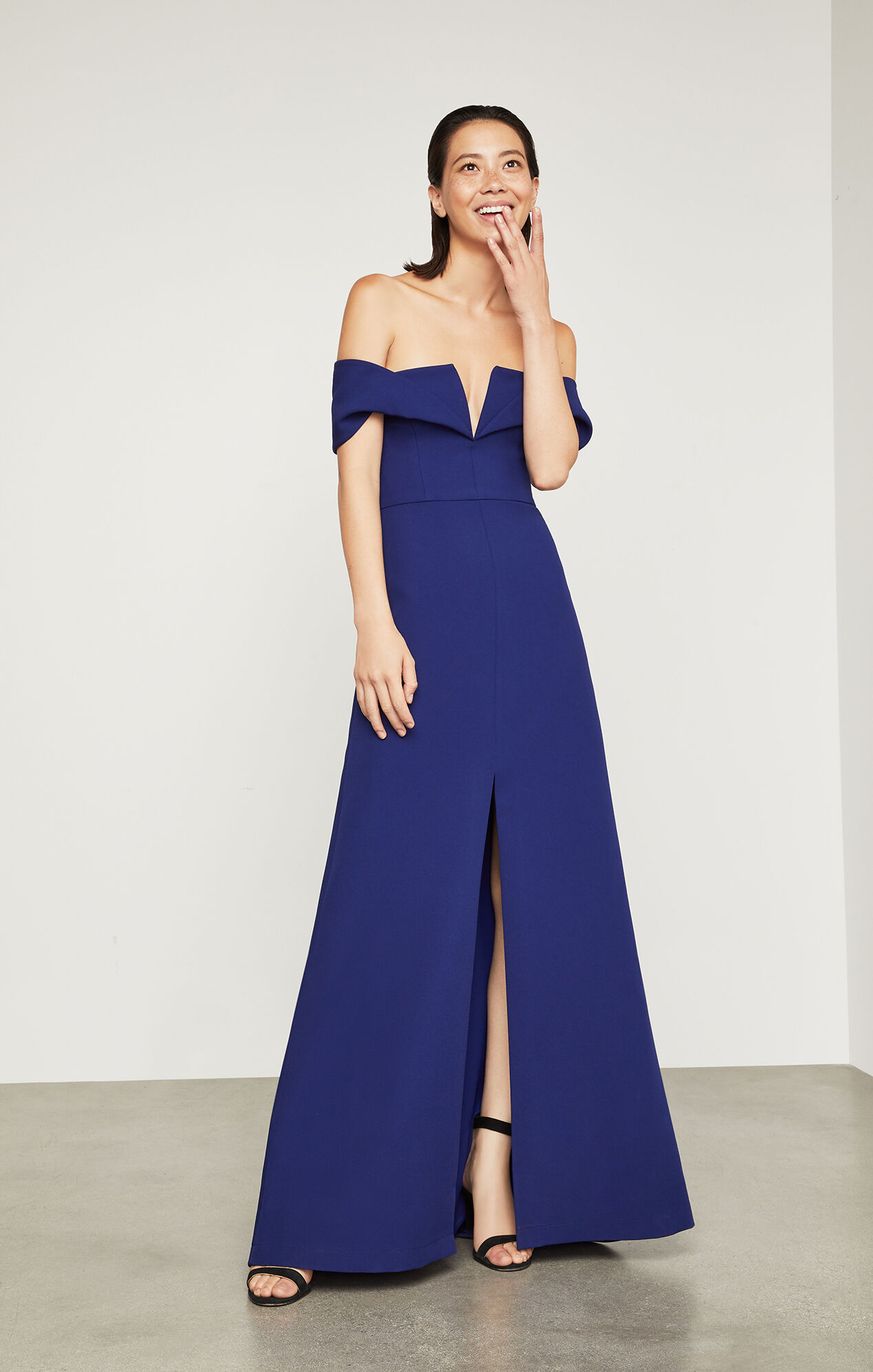 69 Off Bcbgmaxazria Dresses Amp Skirts New Bcbg Maxazria Blue Bird - Amalie off the shoulder gown