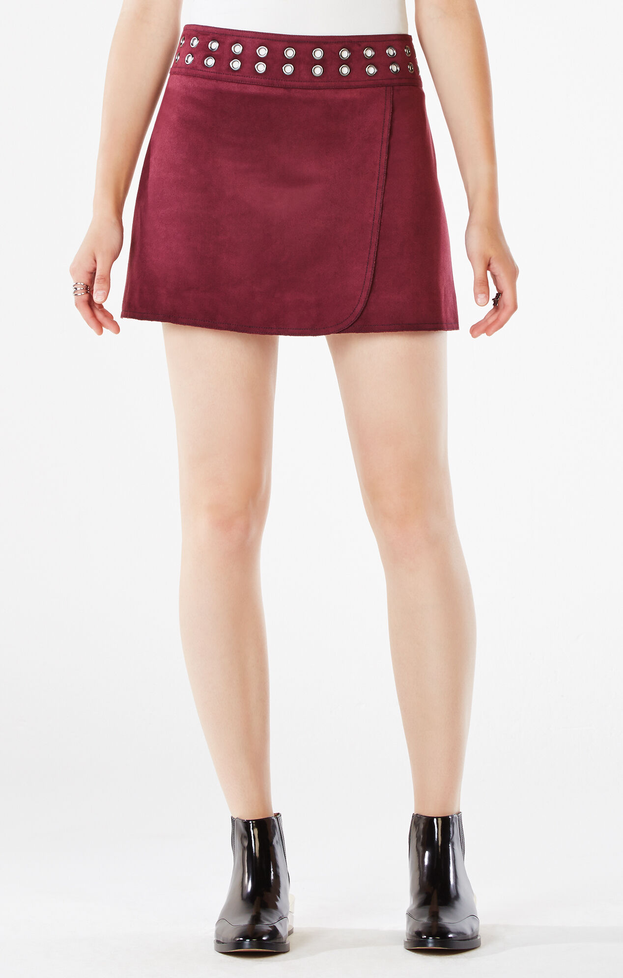 Dorthy Faux-Suede Miniskirt