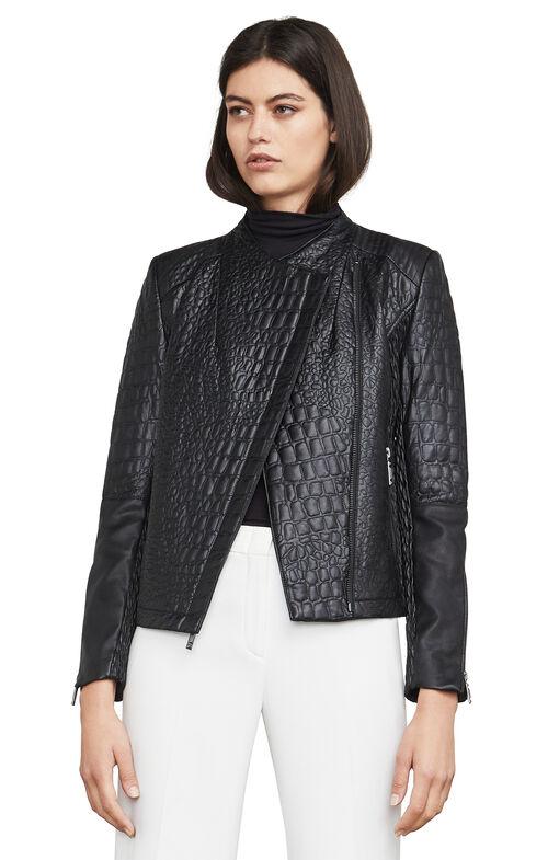 Olivia Textured Moto Jacket