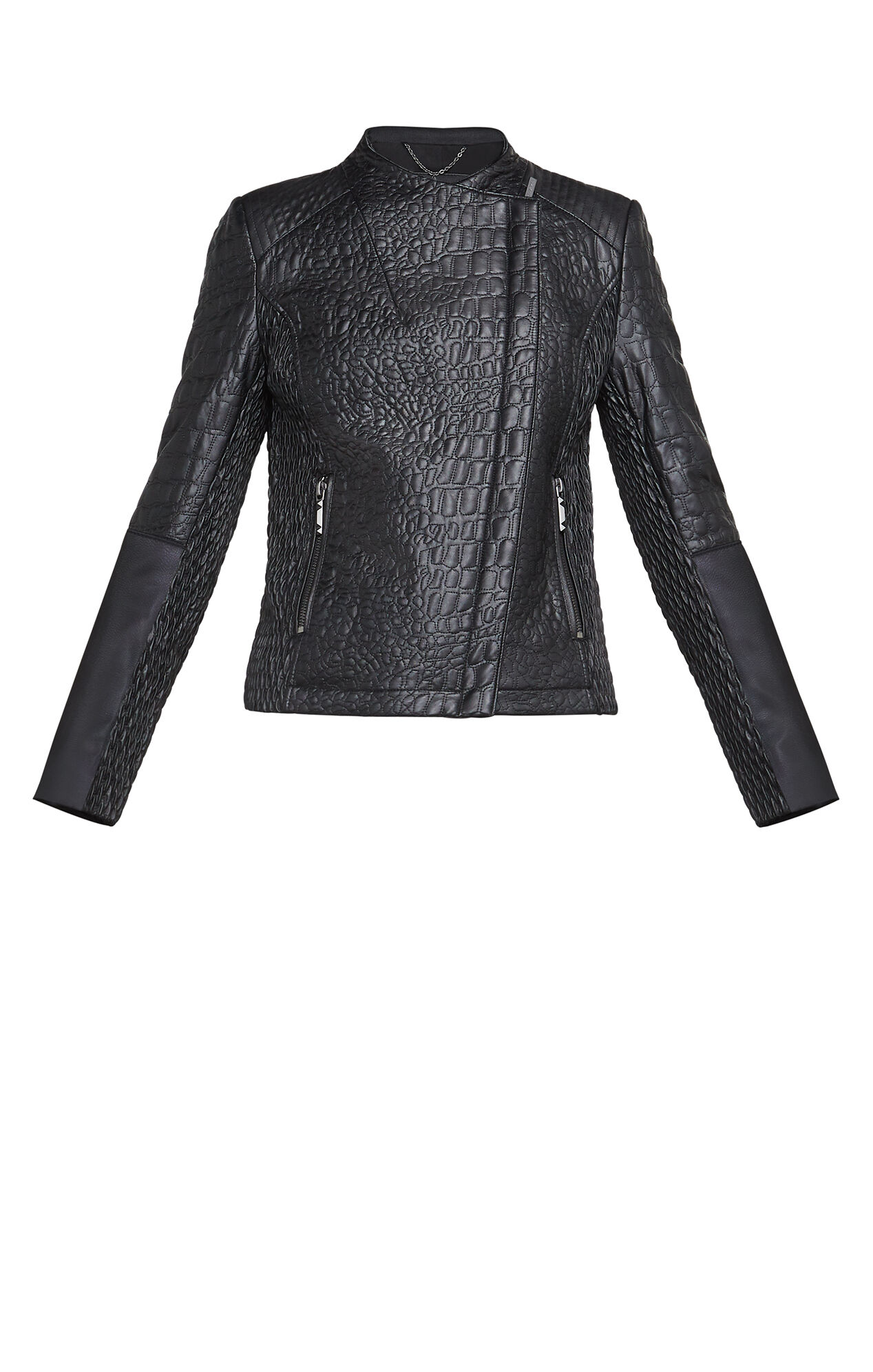 Olivia Textured Moto Jacket