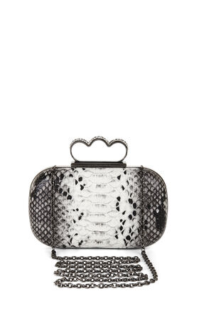 Kingsley Pave-Crystal Knuckle-Duster Clutch