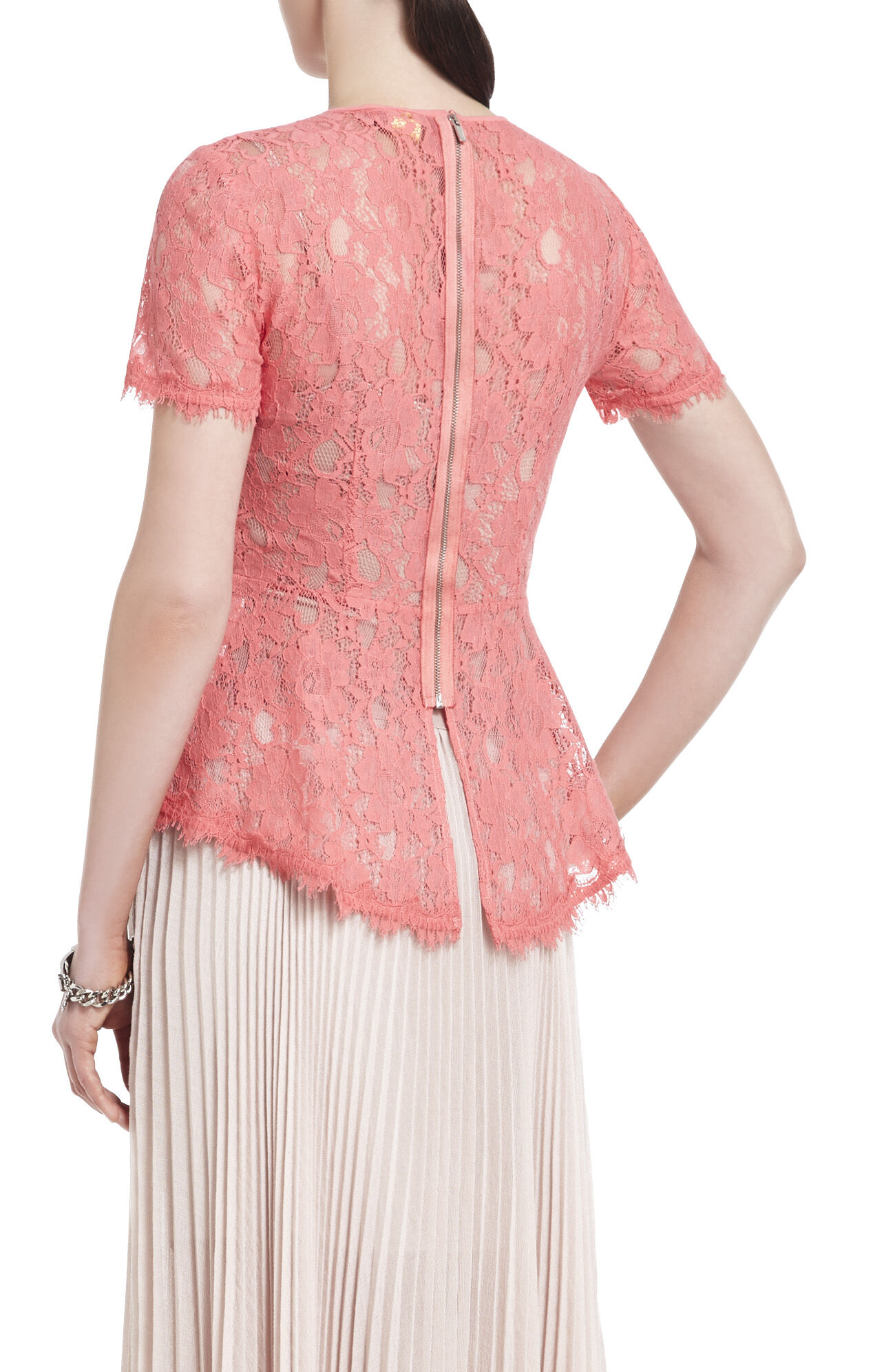 Evia Lace Peplum Top
