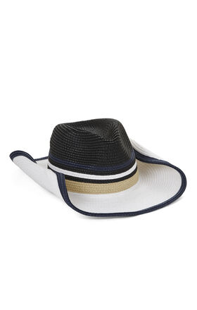 Blocked-Stripe Convertible Cowboy Hat