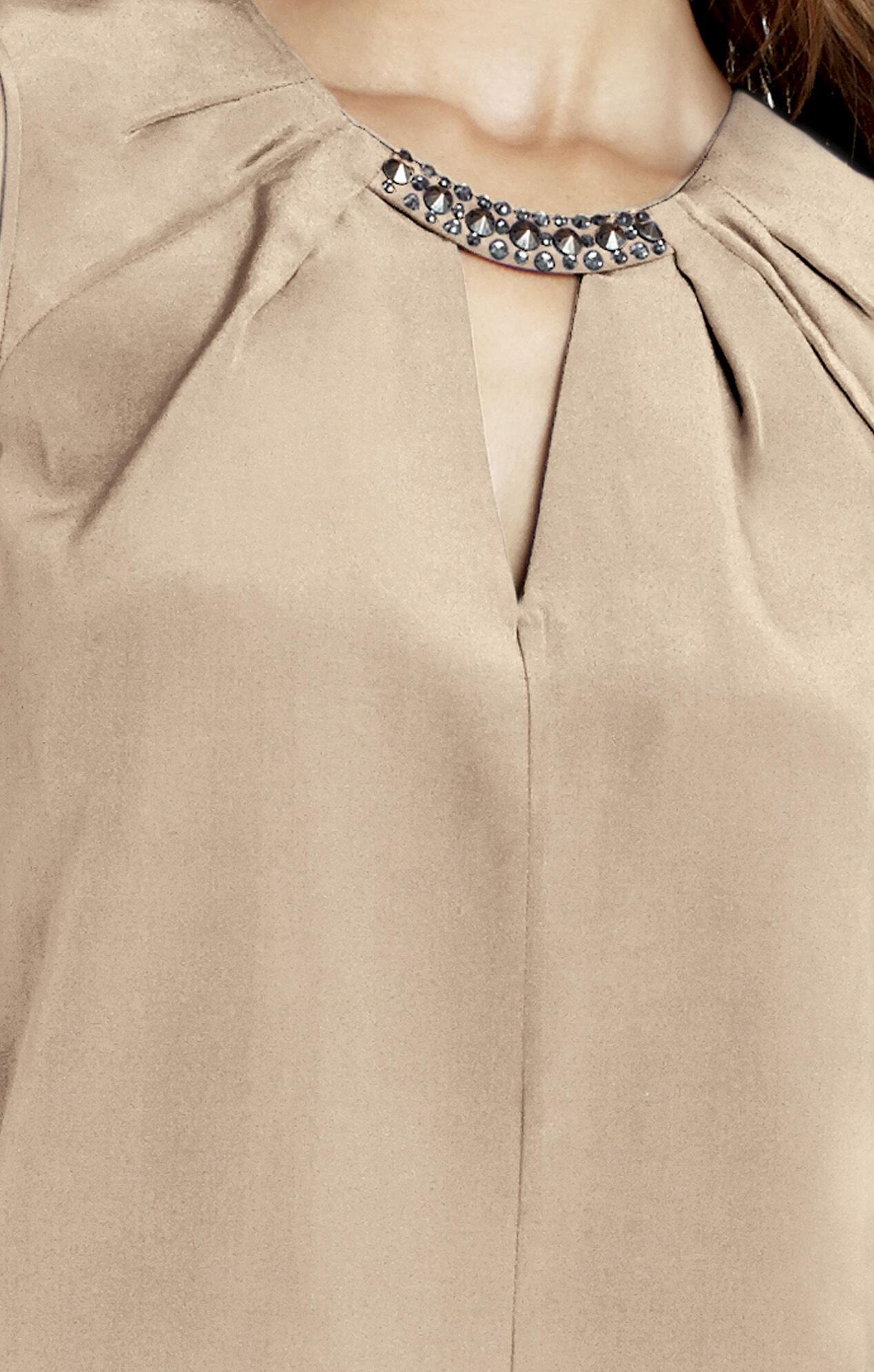 Lauren Beaded Neck Silk Top