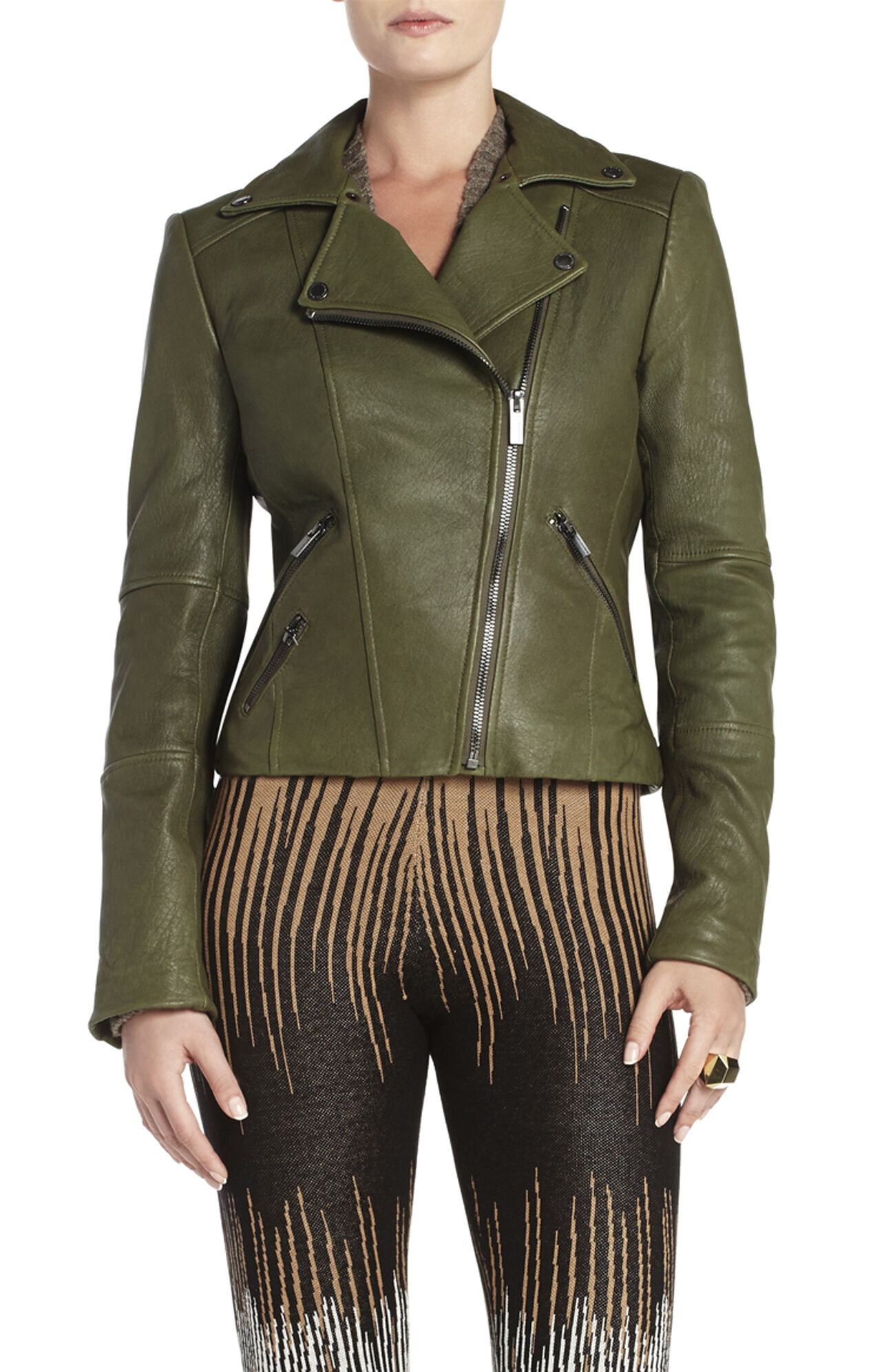 Ella Leather Moto Jacket