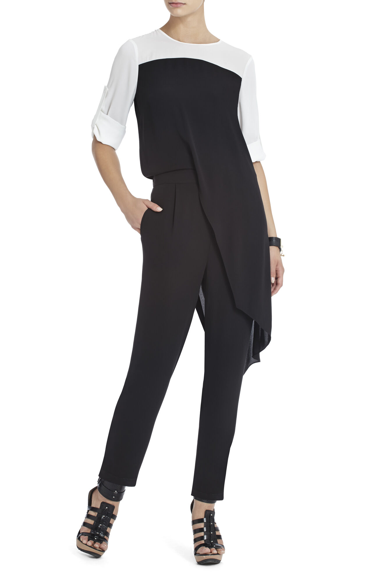 Fiona Side-Draped Jumpsuit