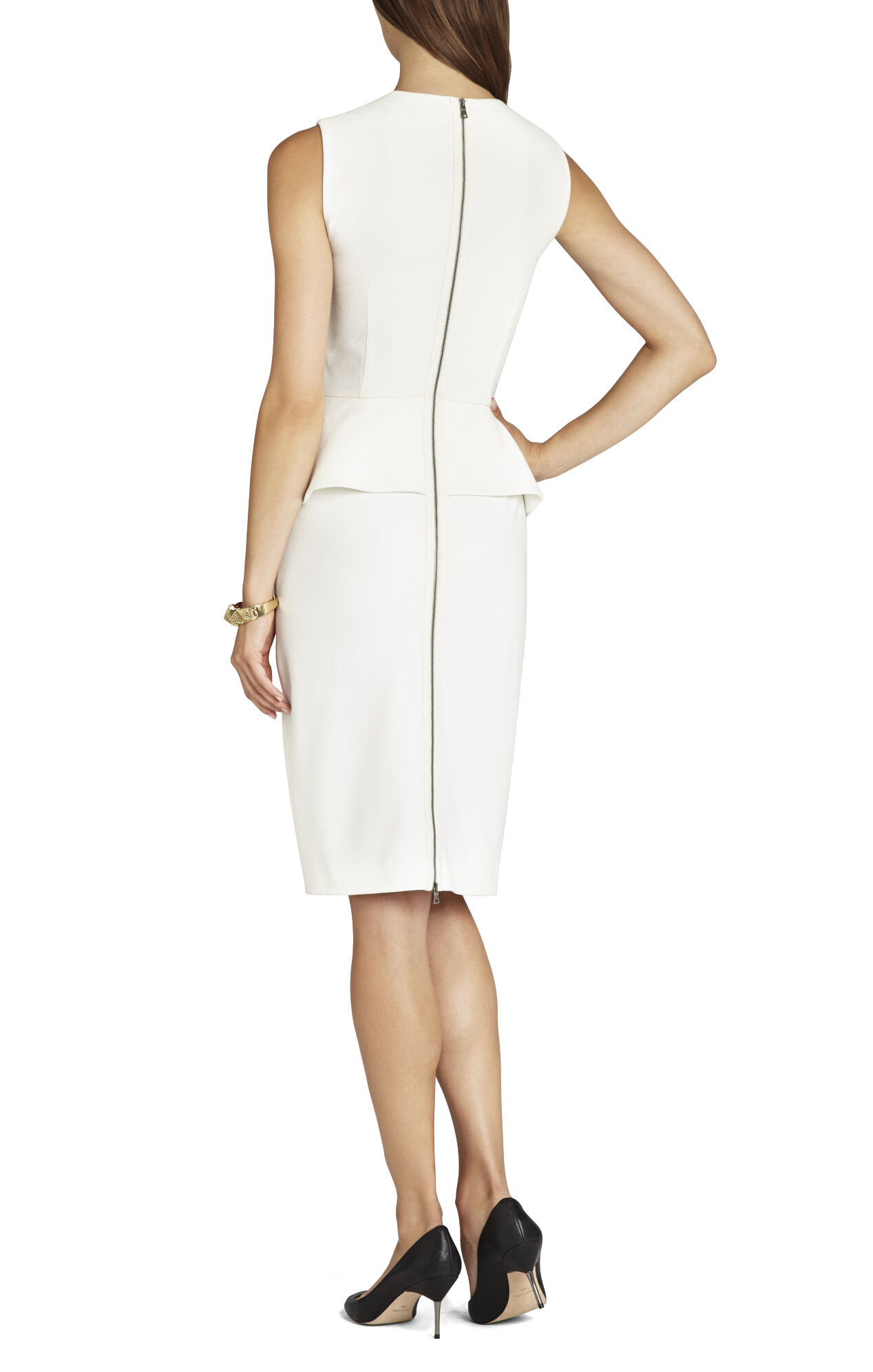 Simone Peplum Sheath Dress