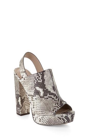 Dune High-Heel Leather Peep Toe Sandal