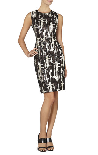 Larisa Sleeveless Fitted Sequin Dress