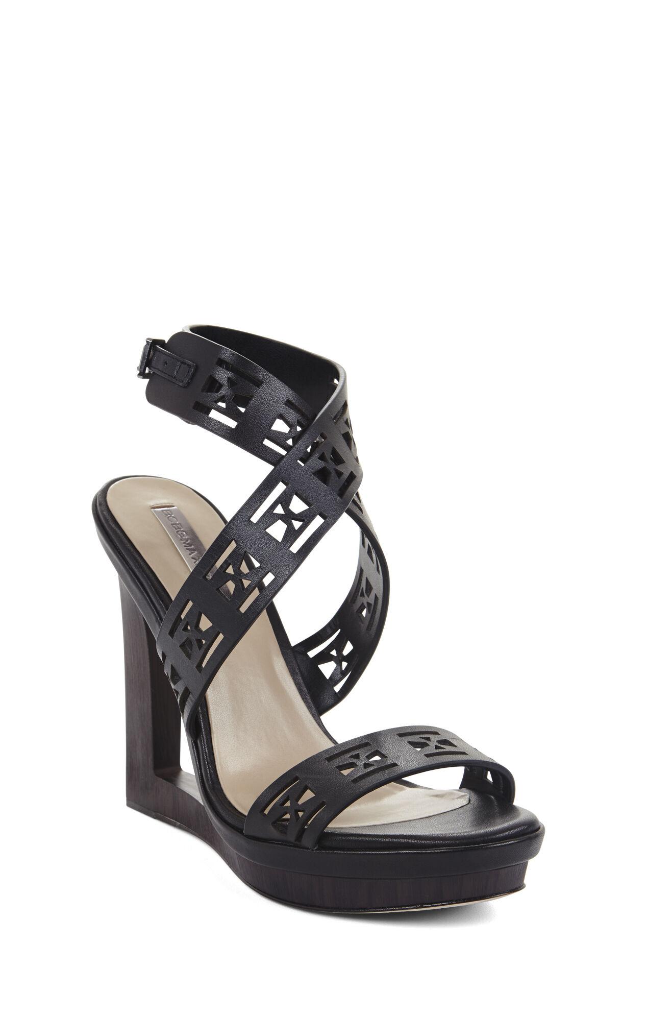 Mazey Laser-Cut Wedge Day Sandal