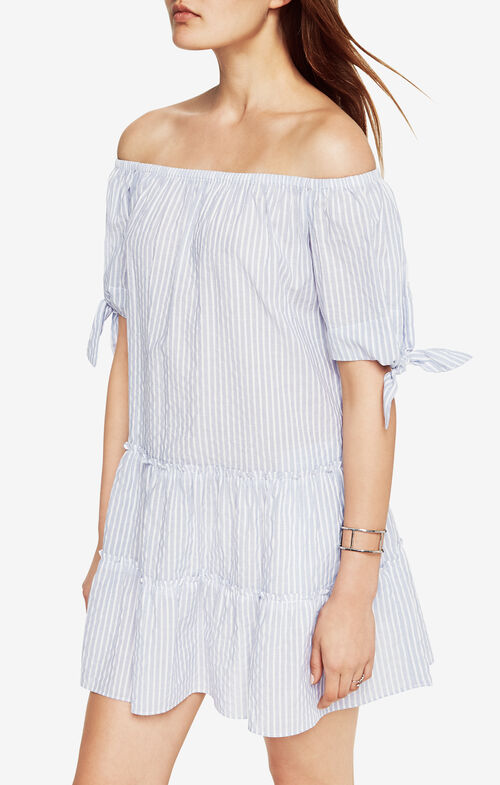 Britt Striped Off-The-Shoulder Dress