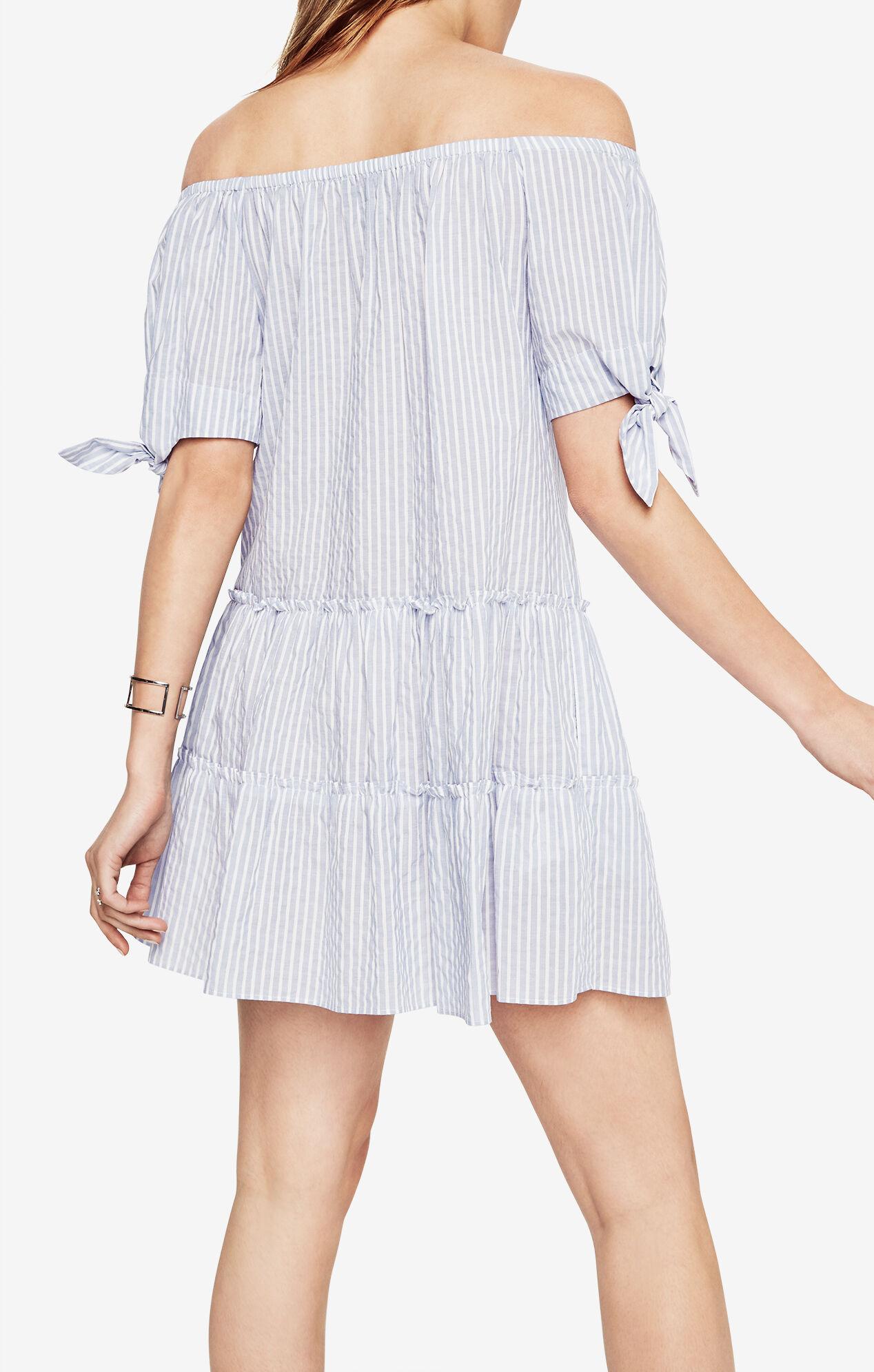 Britt Striped Off-The-Shoulder Dress