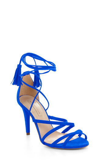 Lenita High-Heel Suede Strappy Sandal