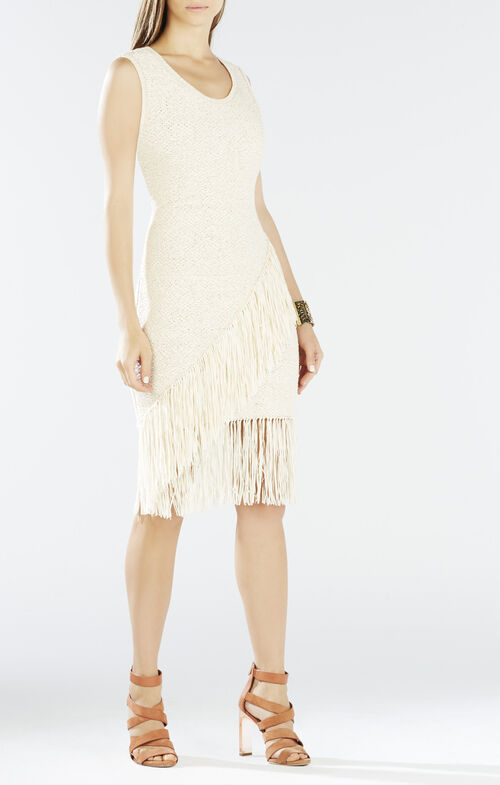 Raychull Asymmetrical Fringe Dress