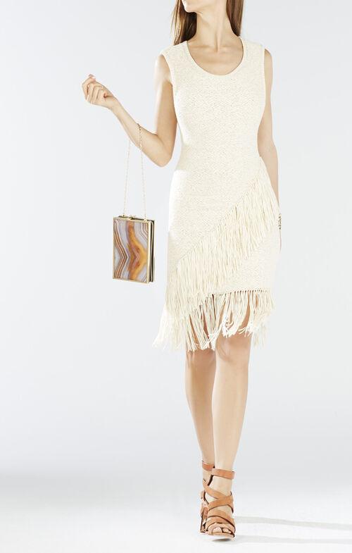 Raychull Asymmetrical Fringe Dress