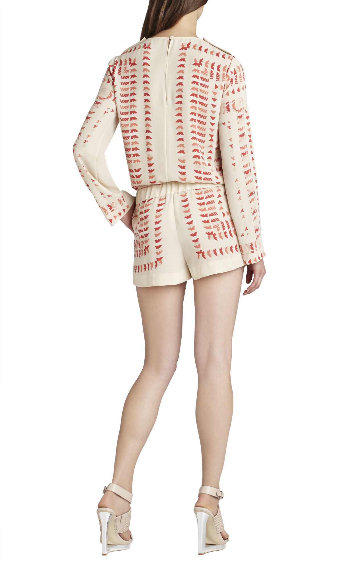 Soren Printed Long-Sleeve Romper