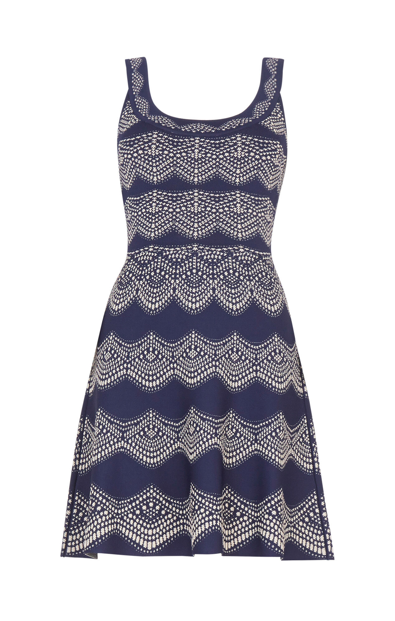 Cyndi Knit Jacquard Dress