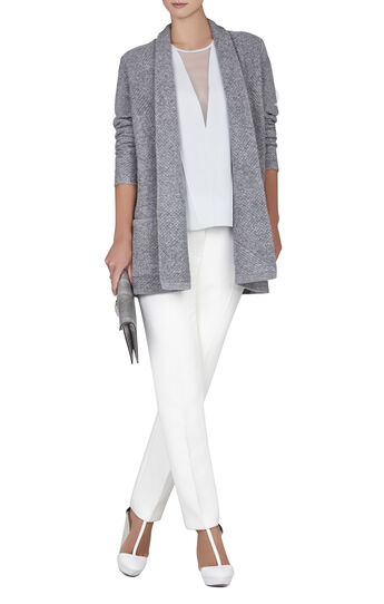 Ginata Shawl-Collar Patch Pocket Cardigan