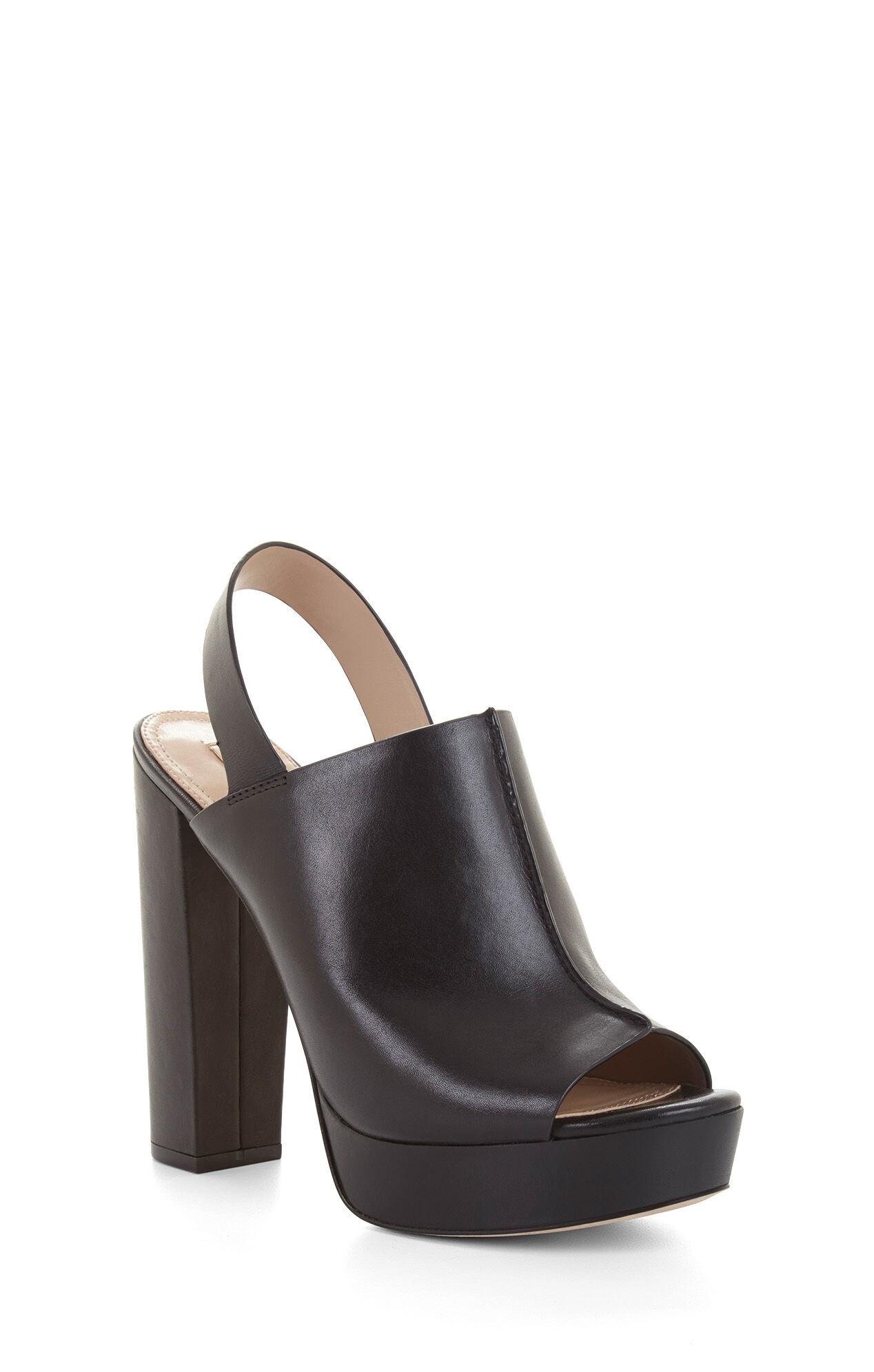 Black sandals dune - Dune High Heel Leather Peep Toe Sandal
