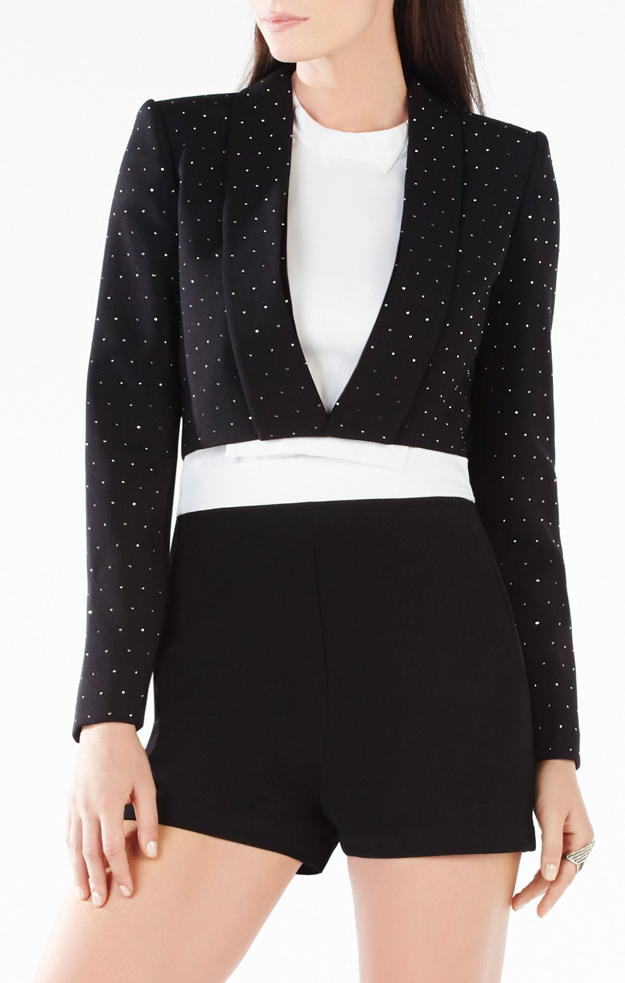 Emmerson Stud Applique Cropped Blazer