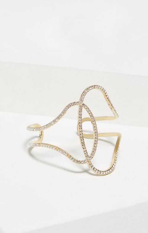 Pave Looped Cuff Bracelet