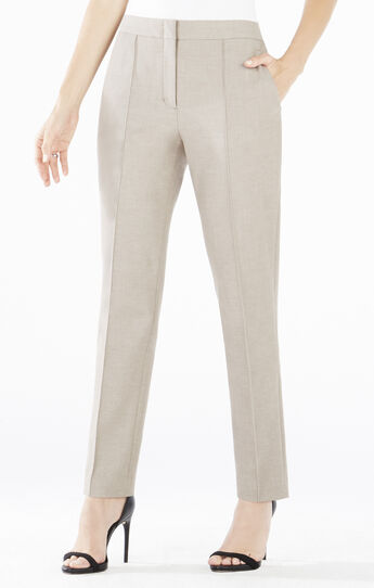 Maurice Slim-Leg Pintucked Trouser