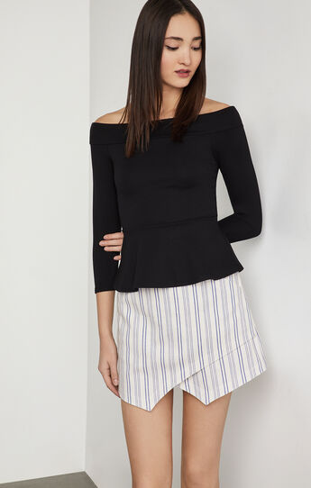 Alea Off-The-Shoulder Peplum Top