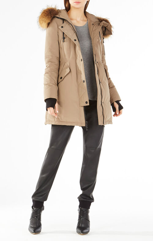 Sahara Fur Hooded Long Puffer Jacket