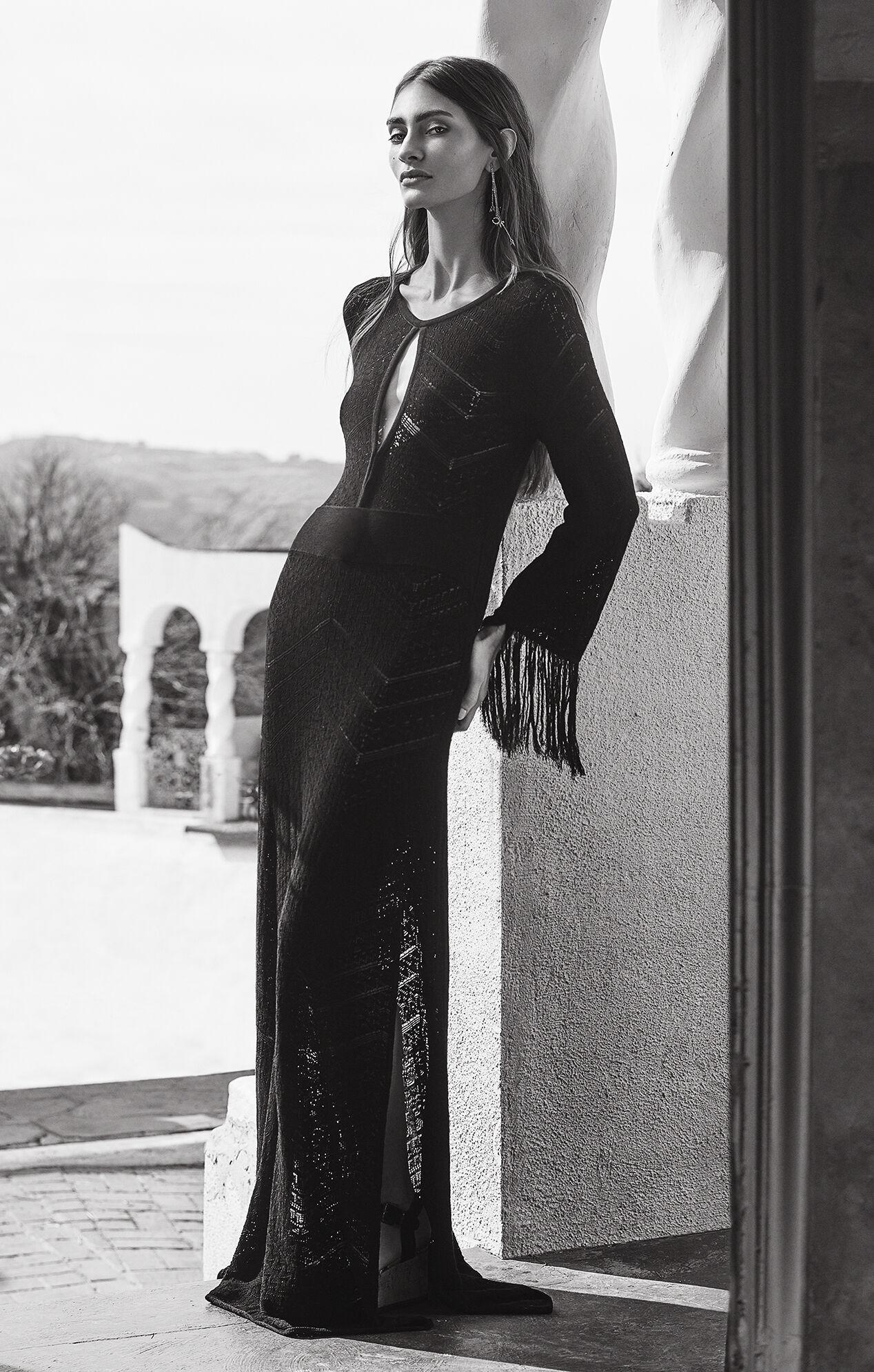Loryn Cutout Pointelle Maxi Dress