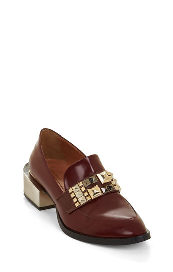 Raquel Studded Leather Loafer