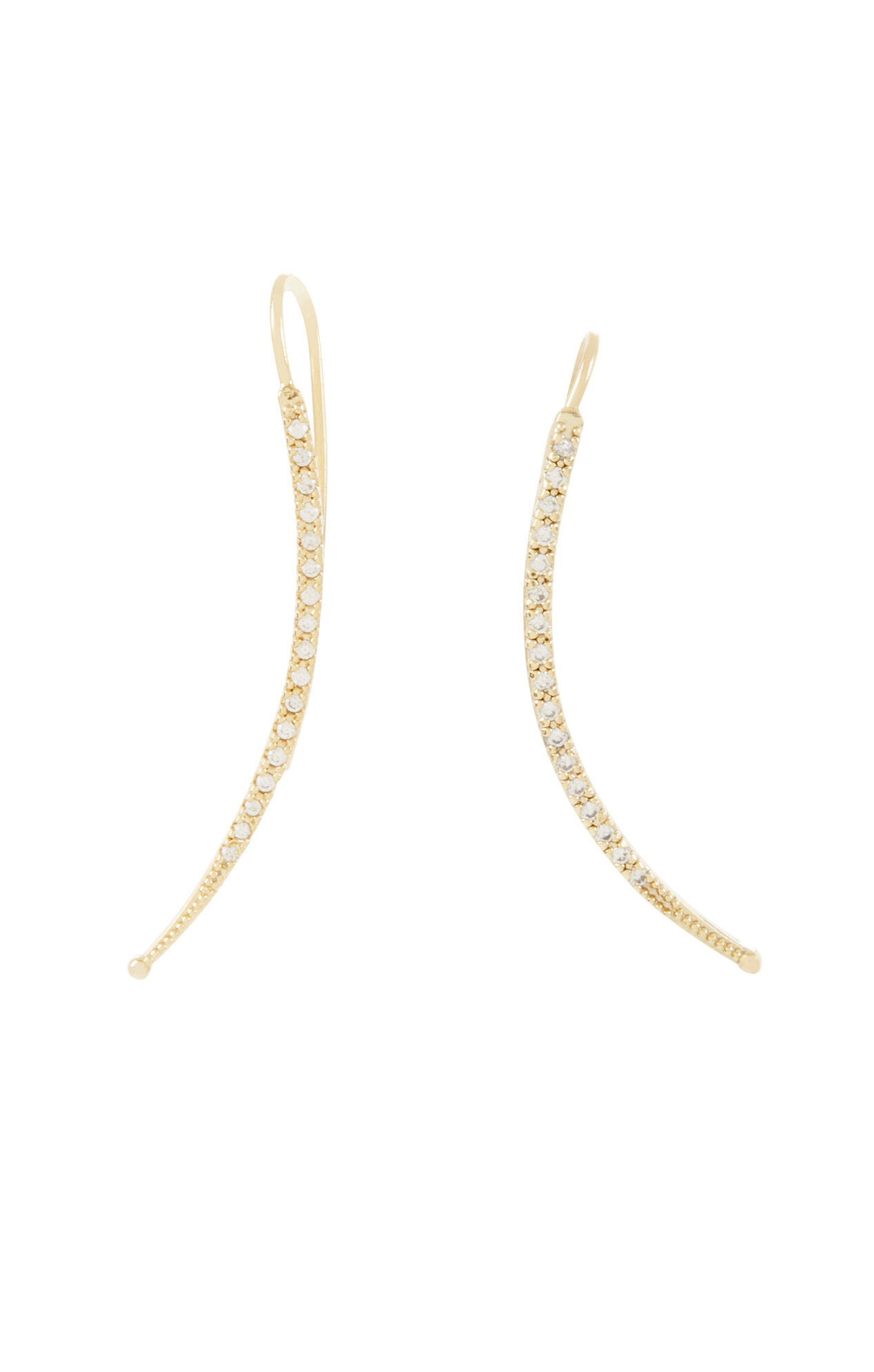 Pave Stone Bar Ear Crawlers