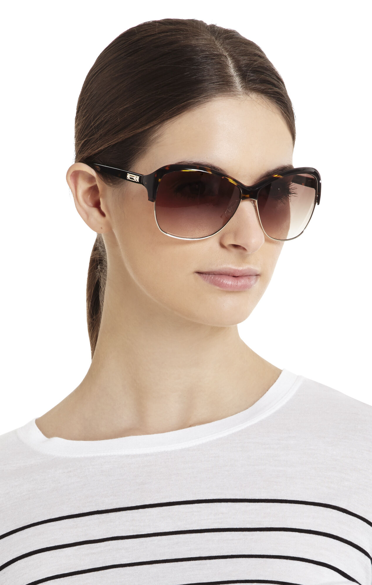 Oversized Plastic Brow Sunglasses