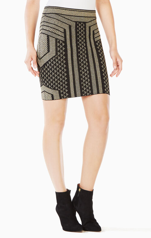 Josa Metallic Pencil Skirt