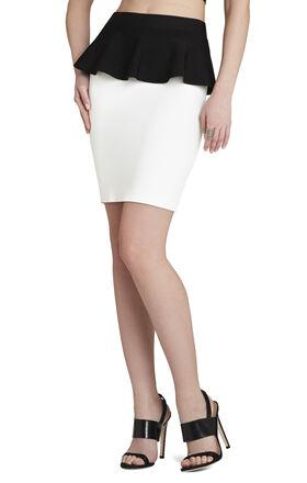 Malisa Color-Blocked Peplum Skirt