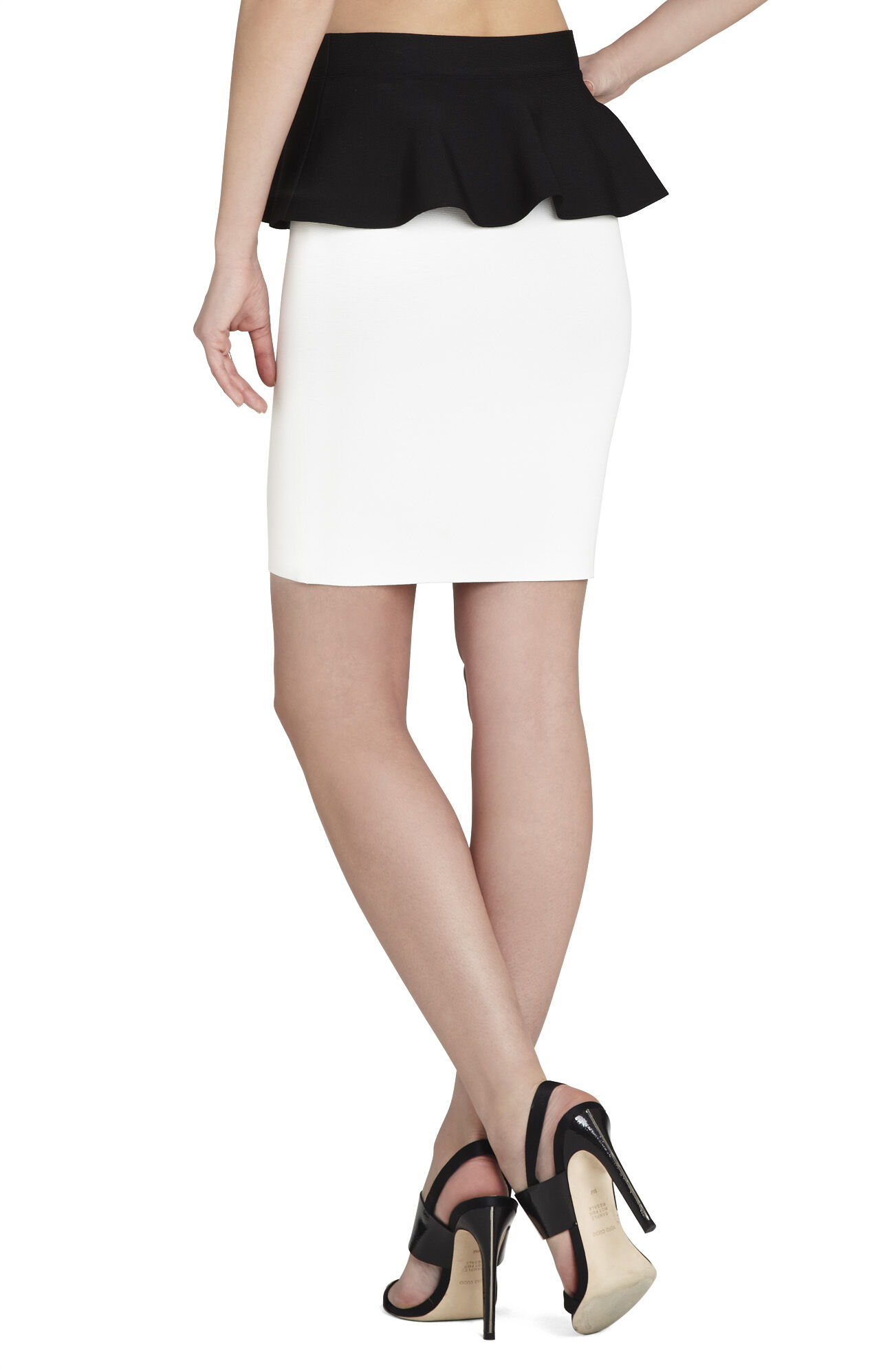 Malisa Color-Blocked Peplum Skirt