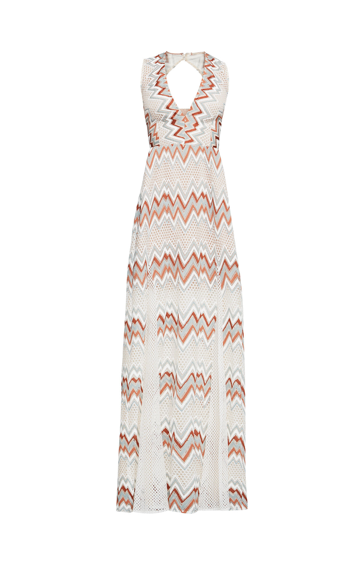 Gia Chevron Stripe Lace Dress