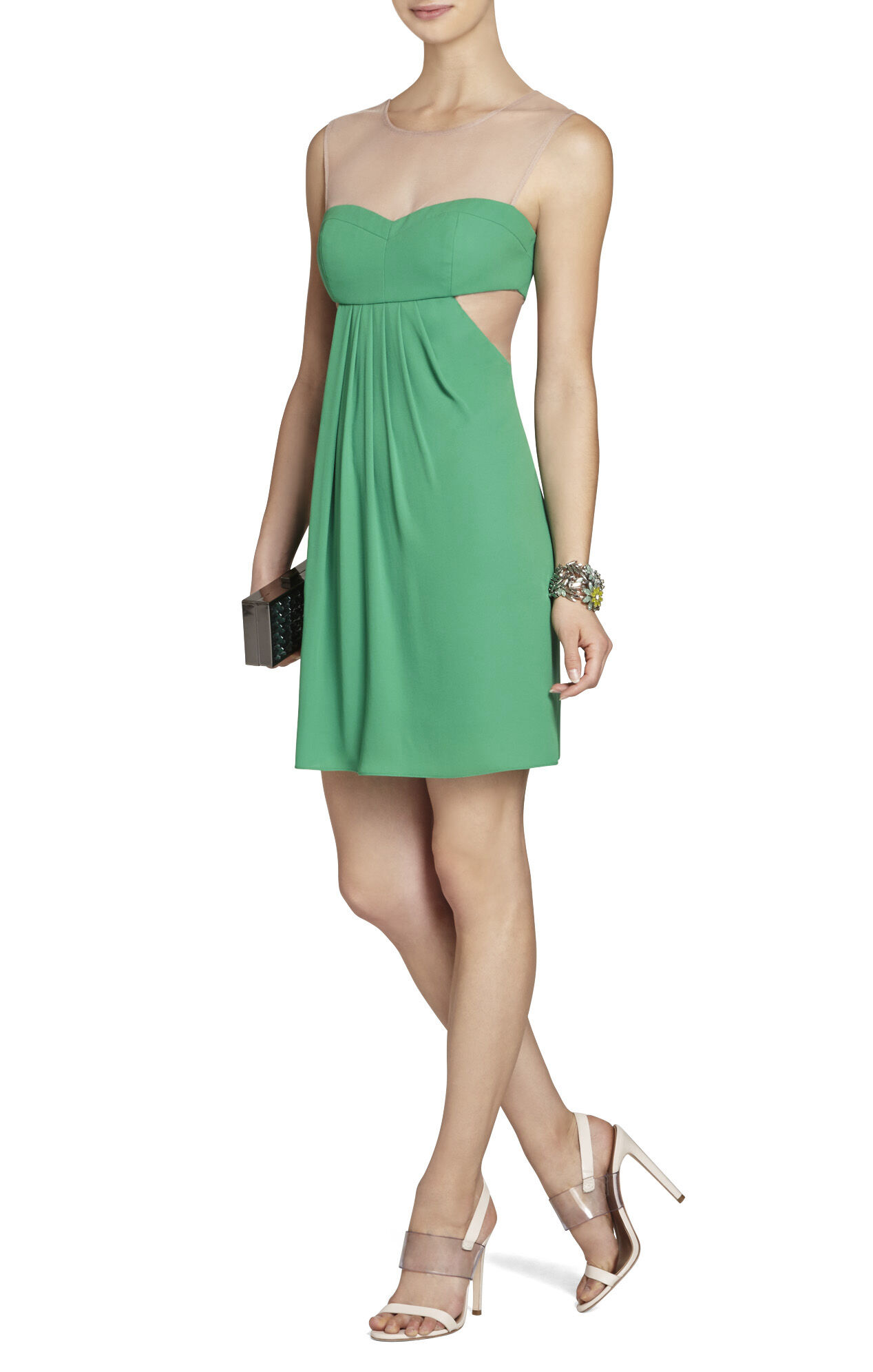 Aicha Sleeveless Draped Skirt Dress