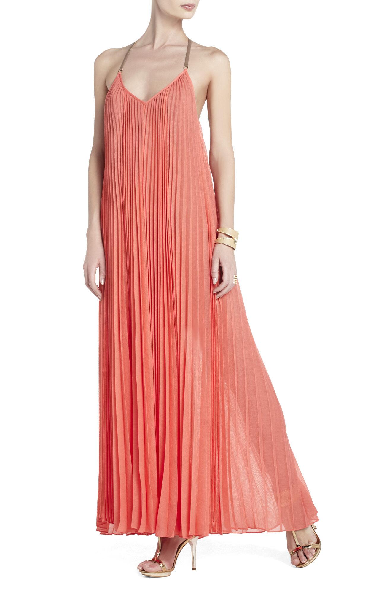 Edita Sunburst-Pleat Maxi Dress