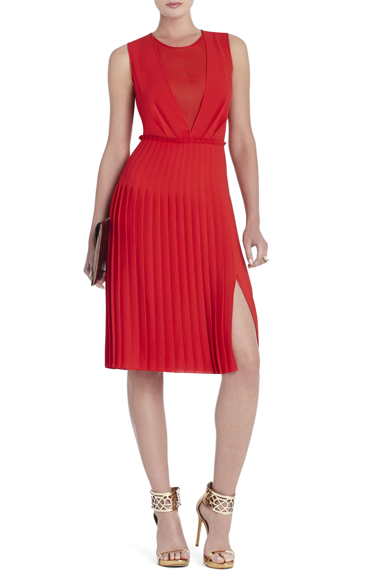 Freja Sleeveless Pleated Dress