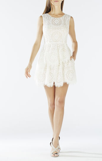 Charlee Asymmetrical Tiered Lace Dress