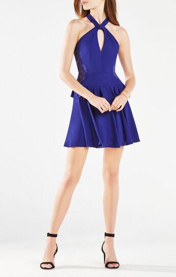 Jennie Lace-Trim Ruffle Dress