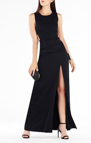 Kiara Sleeveless Peplum Gown