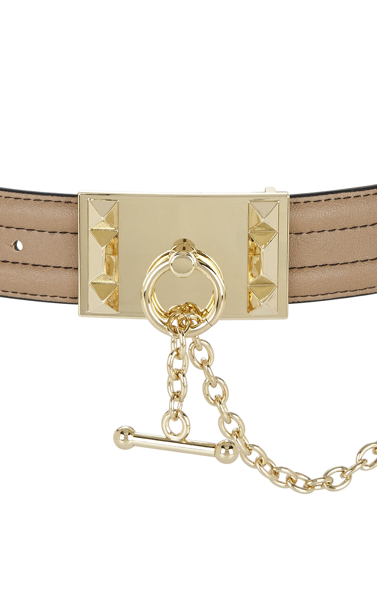 Bevel-Edge Toggle Waist Belt