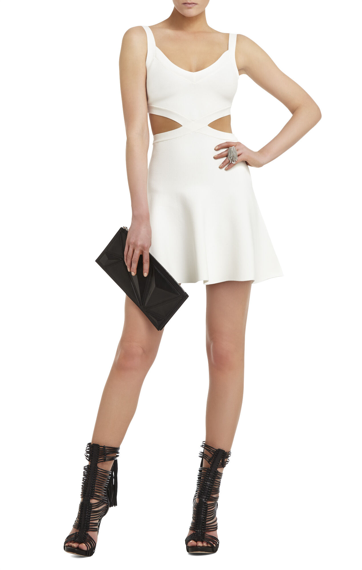 Elyzabeth Crossed Cutout Dress