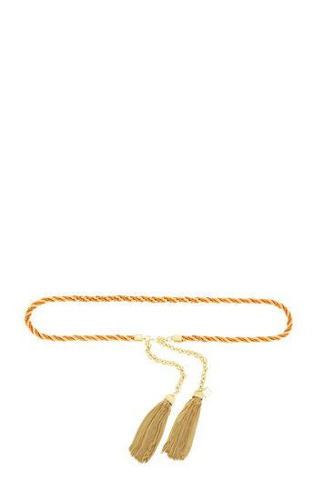 Metallic Chain Tassel Belt