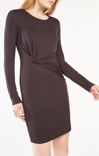 Laurren Knotted Jersey Dress