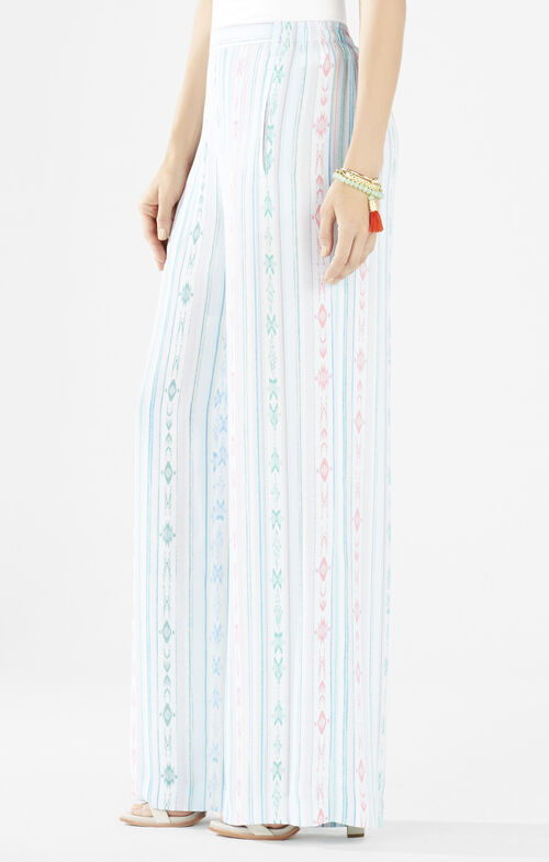 Joan Aztec Stripe Wide-Leg Pant